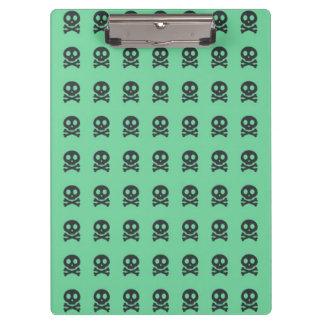 Porte-bloc Rétro motif de crâne de vert d'amusement