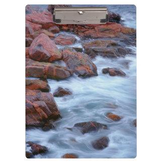 Porte-bloc Rivage rocheux avec de l'eau, Canada