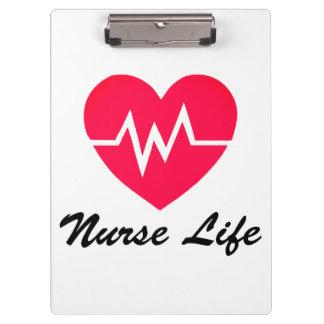 Porte - bloc rouge de coeur de la vie ECG Porte-bloc