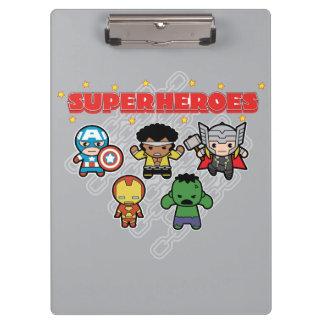 Porte-bloc Superhéros de merveille de Kawaii