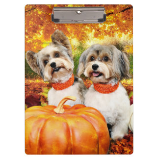 Porte-bloc Thanksgiving de chute - maximum et Lion - Yorkies