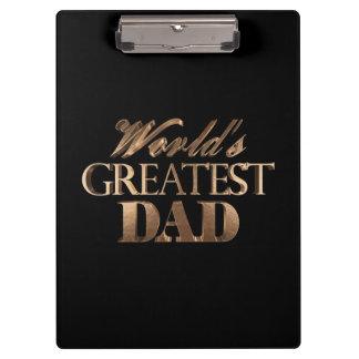 Porte-bloc Typographie noire élégante d'or du plus grand papa