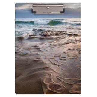 Porte-bloc Vague se cassant sur la plage, la Californie