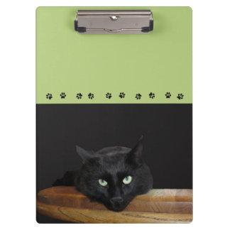 Porte-bloc Vert de porte - bloc de chat noir de garde