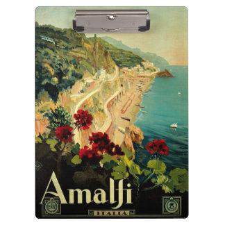 Porte-bloc Voyage vintage, plage italienne de côte d'Amalfi