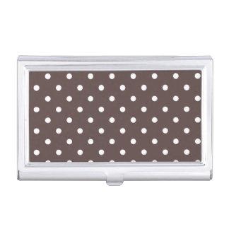 Porte-cartes de carte de visite brun chocolat de boîtiers pour cartes de visite