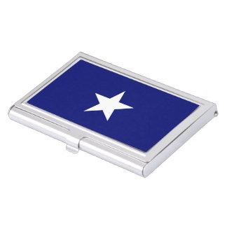 """Porte-cartes de carte de visite """"de drapeau bleu étuis pour cartes de visite"""