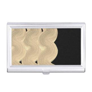 Porte-cartes de luxe de concepteurs : or noir boîtier pour cartes de visite