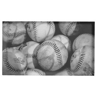 Porte-cartes De Placement Base-ball en noir et blanc