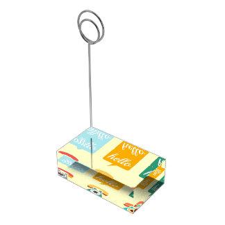Porte-cartes De Placement Bonjour bonjour coloré mignon