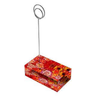 Porte-cartes De Placement Marguerites d'un rouge ardent riches de bouquet
