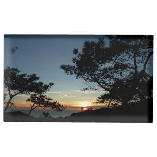 Porte-cartes De Placement Paysage du coucher du soleil III la Californie de