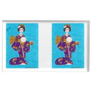 Porte-cartes De Placement Poupée de geisha