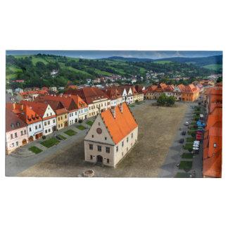 Porte-cartes De Placement Vieille place dans Bardejov, Slovaquie