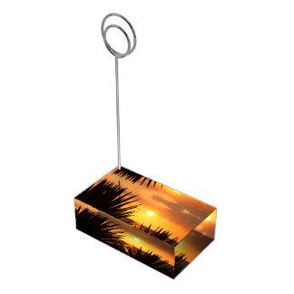 Porte-cartes De Table Coucher du soleil