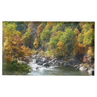 Porte-cartes De Table Couleur de chute au parc d'état d'Ohiopyle