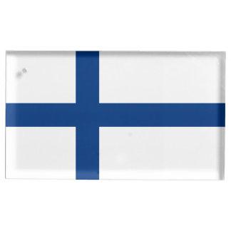 Porte-cartes De Table Drapeau de la Finlande