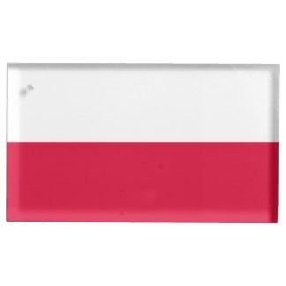 Porte-cartes De Table Drapeau de la Pologne