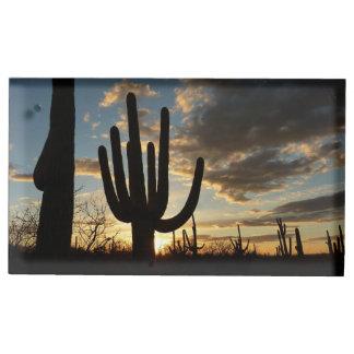 Porte-cartes De Table Paysage de désert du coucher du soleil II Arizona