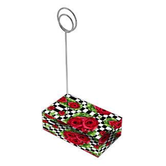 Porte-cartes De Table Rockabilly floral d'amour de bouquet de roses