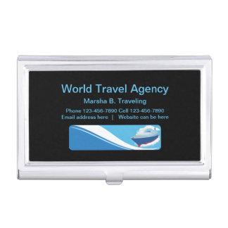 Porte-cartes De Visite Agent et agence de voyage modernes