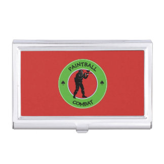 Porte-cartes De Visite Combat de Paintball