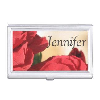 Porte-cartes De Visite Floral rouge personnalisé