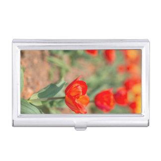 Porte-cartes De Visite Jardin rouge de tulipe