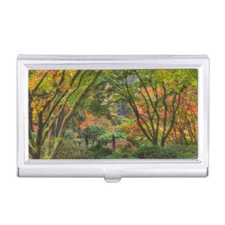 Porte-cartes De Visite Jardins japonais en automne à Portland, Orégon 4