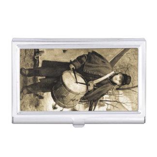Porte-cartes De Visite La guerre civile vintage de garçon de batteur