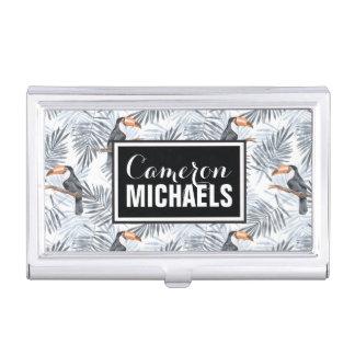 Porte-cartes De Visite Le toucan gris | ajoutent votre nom