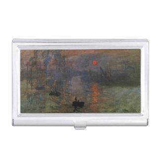 Porte-cartes De Visite Lever de soleil d'impression par Claude Monet, art