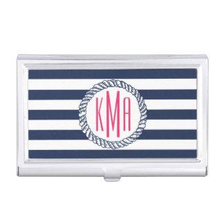 Porte-cartes De Visite Marine nautique de très bon goût et monogramme