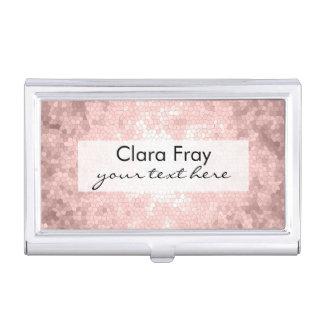 Porte-cartes De Visite motif rose girly sophistiqué élégant d'or