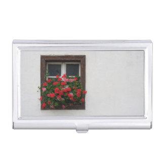 Porte-cartes De Visite Pélargonium rouge et rose
