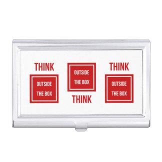 Porte-cartes De Visite Pensez en dehors de la boîte rouge