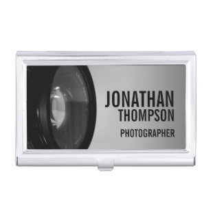 Porte Cartes De Visite Photographie Noire Et Blanche Professionnelle