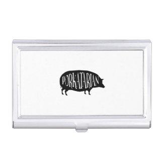 Porte-cartes De Visite Porc vintage drôle - Porkatarian - lard d'amour