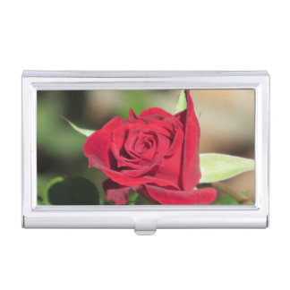 Porte-cartes De Visite Rose rouge
