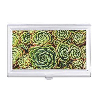 Porte-cartes De Visite Support d'affaires de Succulents