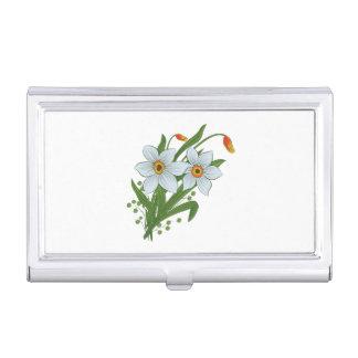 Porte-cartes De Visite Tulipes et fleurs de jonquilles
