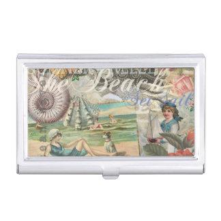 Porte-cartes De Visite Victorian vintage de plage d'été rétro