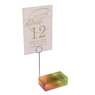 Porte-cartes fascinant de Tableau de rose et d'or Porte-photo