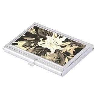 Porte-cartes floral de luxe d'art de concepteurs boîtier pour cartes de visite