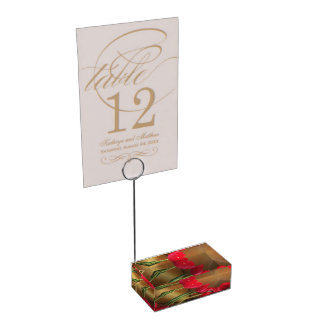 Porte-cartes rouge de tulipes porte-carte de table