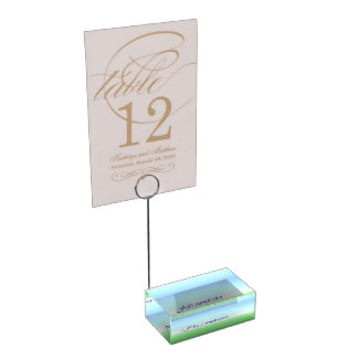 Porte-cartes vert-bleu de Tableau d'anniversaire Porte-cartes De Table