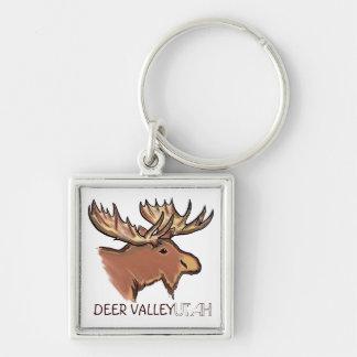 Porte - clé artistique de souvenir d'élans de Deer Porte-clés