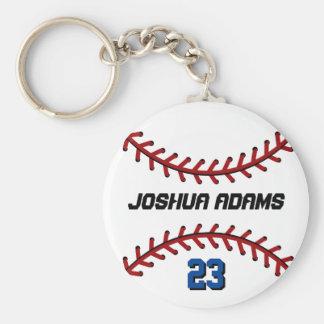 Porte - clé blanc de base-ball d'équipe de sports porte-clé rond