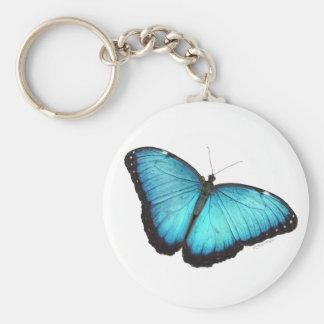 Porte - clé bleu de papillon de Morpho Porte-clés