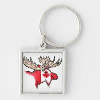 Porte - clé canadien de drapeau d'élans du Canada Porte-clés